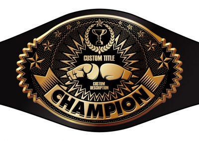 Champion Belt Box Template O-004
