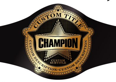 Champion Belt Template A-0011