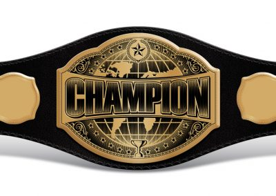 Universal Champion Belt with Empty Sides 011