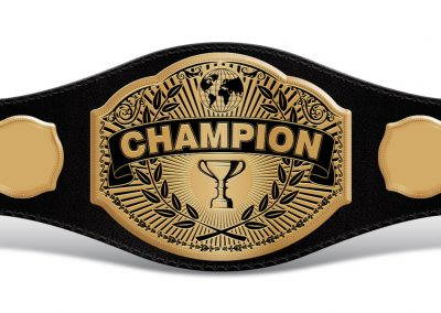Universal Champion Belt with Empty Sides 021