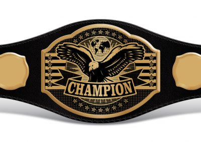 Universal Champion Belt with Empty Sides 03